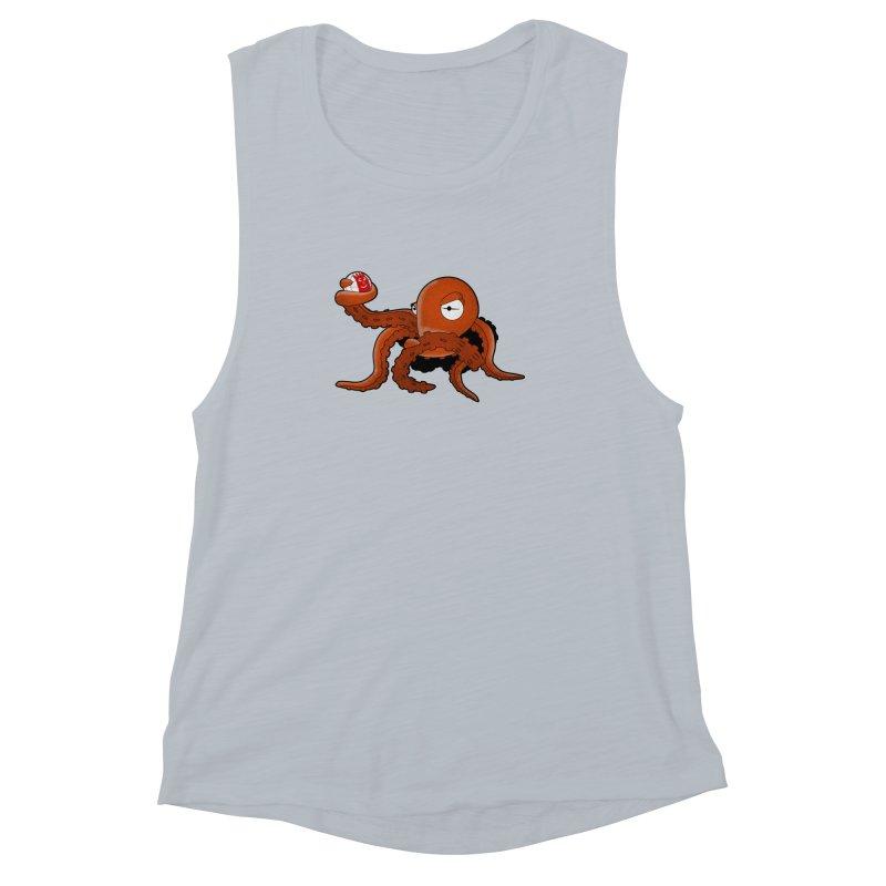 Octopus Wilson Women's Muscle Tank by notblinking's Artist Shop