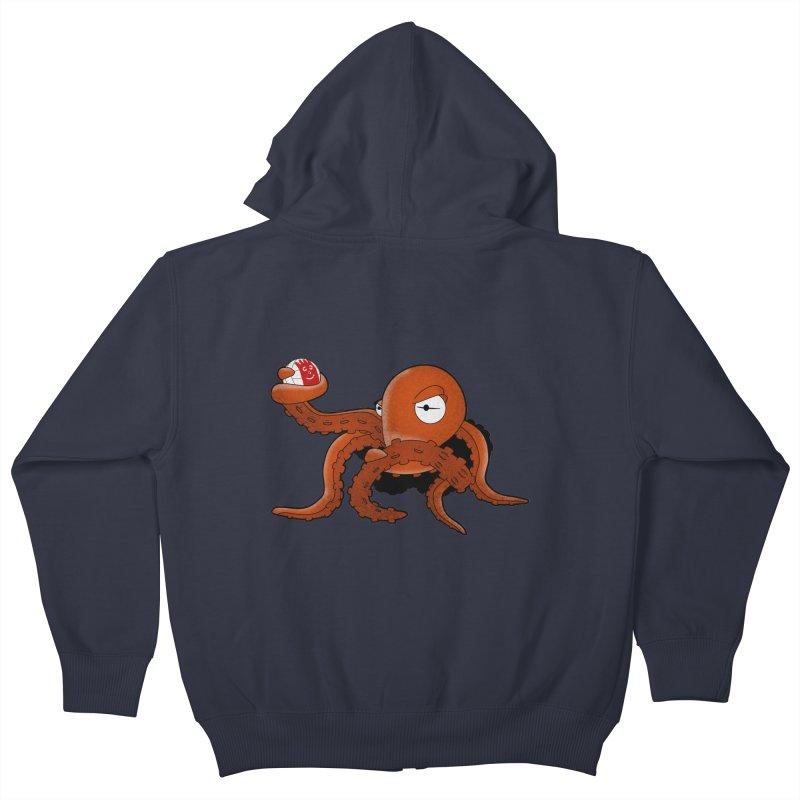 Octopus Wilson Kids Zip-Up Hoody by notblinking's Artist Shop