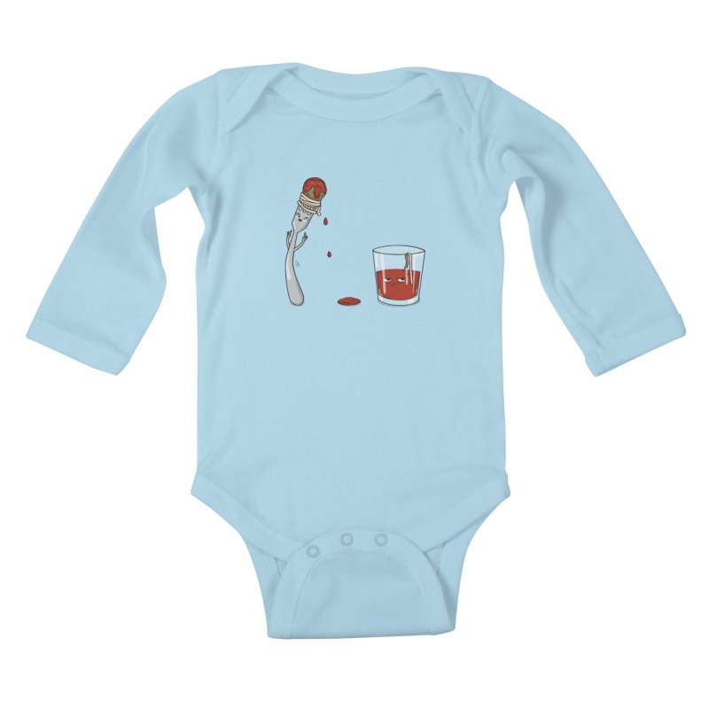 Food Buddies Kids Baby Longsleeve Bodysuit by notblinking's Artist Shop