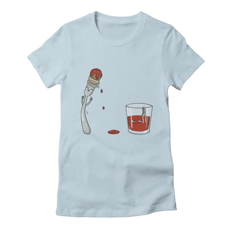 Food Buddies Women's Fitted T-Shirt by notblinking's Artist Shop