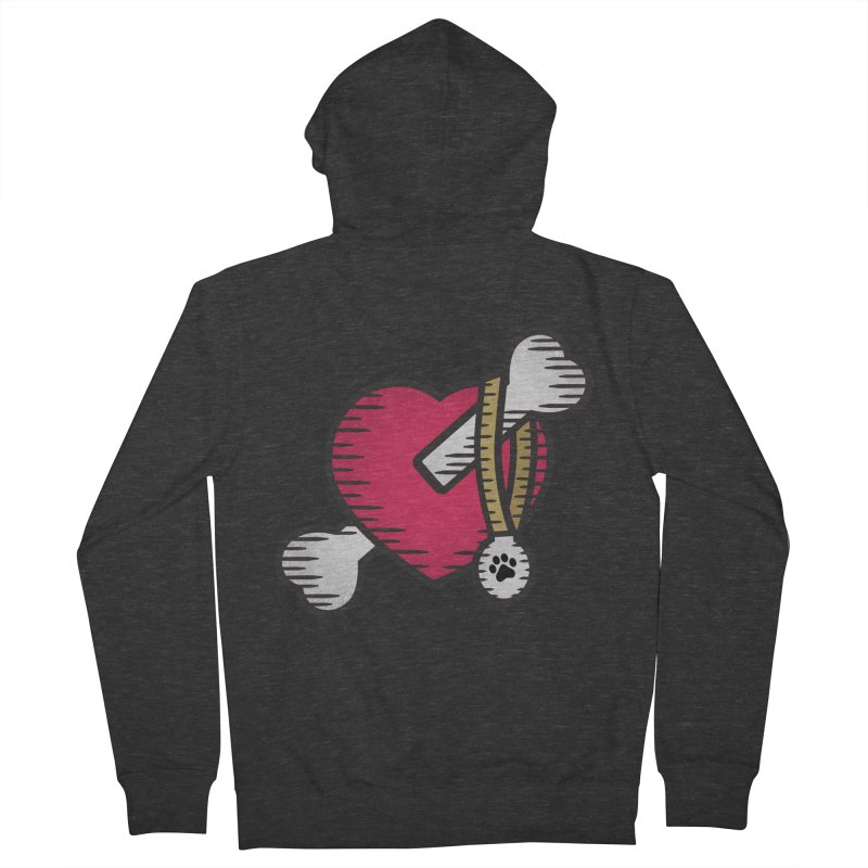 Dogs Luv Bones Men's Zip-Up Hoody by notblinking's Artist Shop