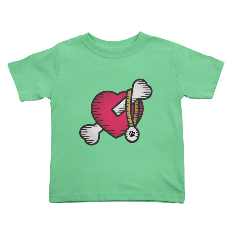 Dogs Luv Bones Kids Toddler T-Shirt by notblinking's Artist Shop
