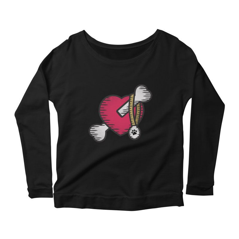Dogs Luv Bones Women's Longsleeve Scoopneck  by notblinking's Artist Shop