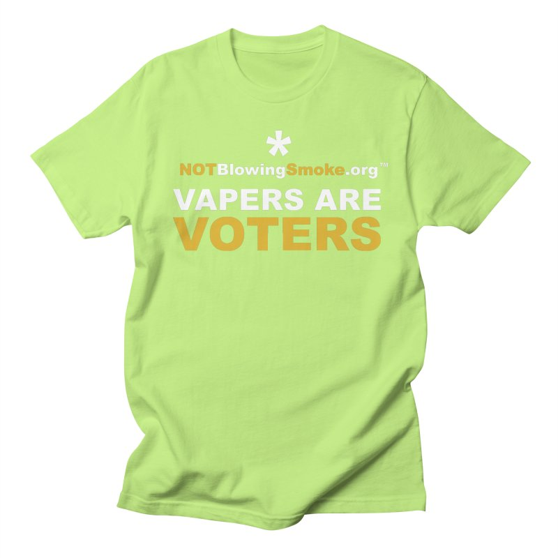 Vapers Are Voters Men's T-Shirt by NOTBlowingSmoke's Shop