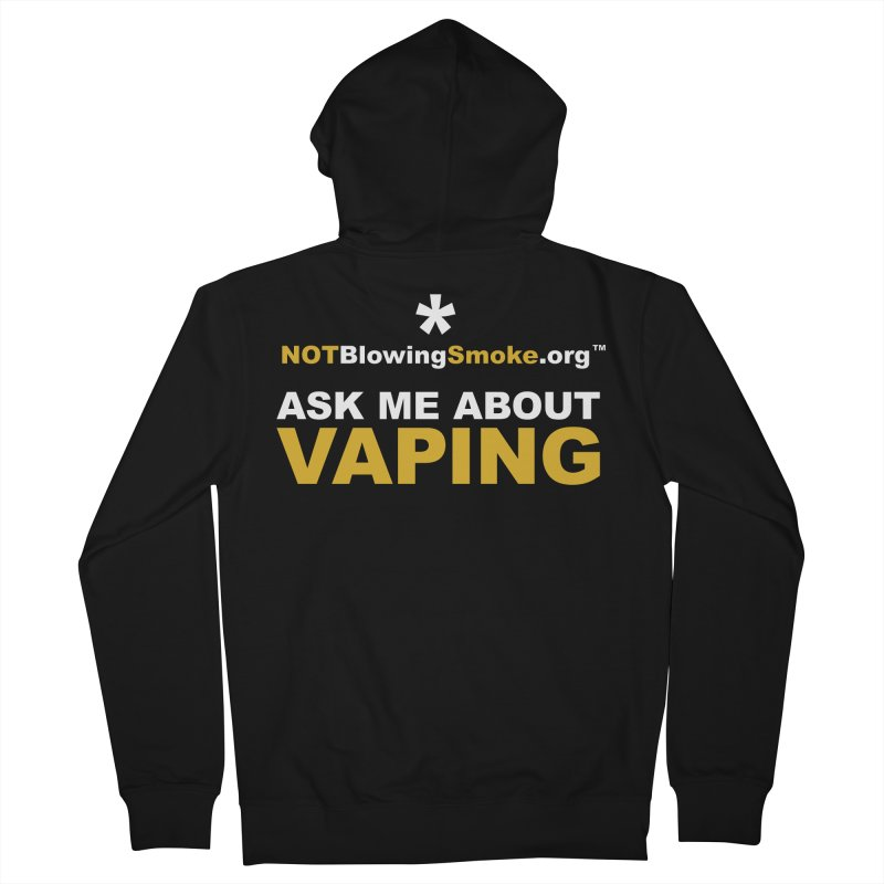 Ask Me About Vaping Men's French Terry Zip-Up Hoody by NOTBlowingSmoke's Shop