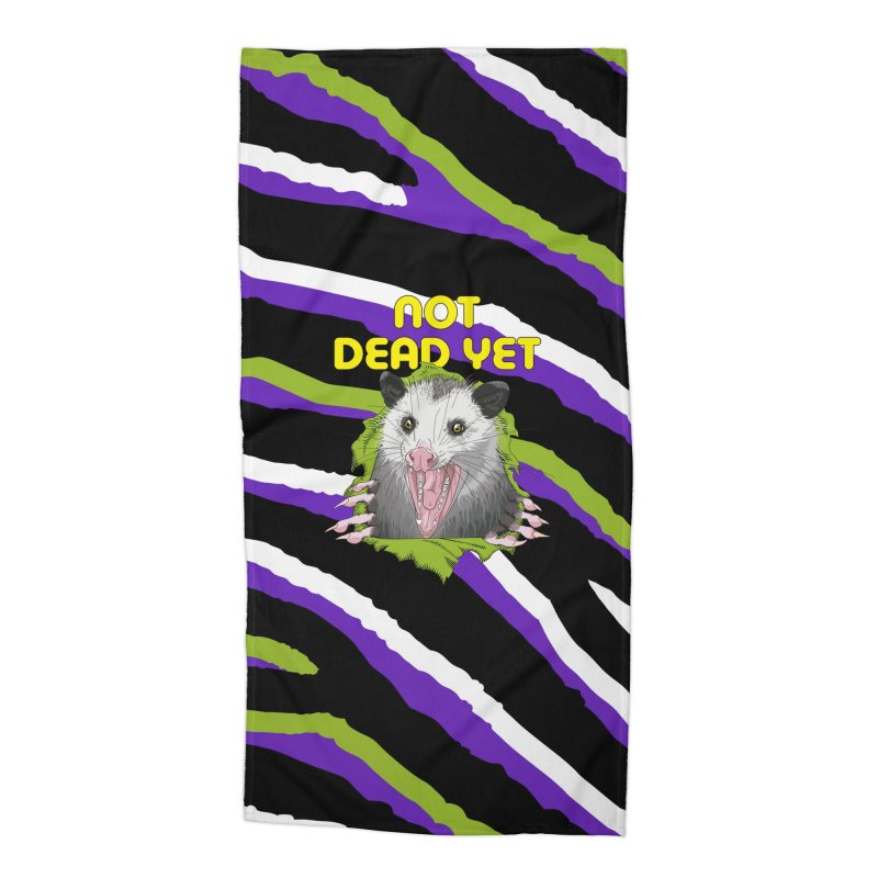 Zebra Ripper 'Possum Accessories Beach Towel by Not Dead Yet Merch