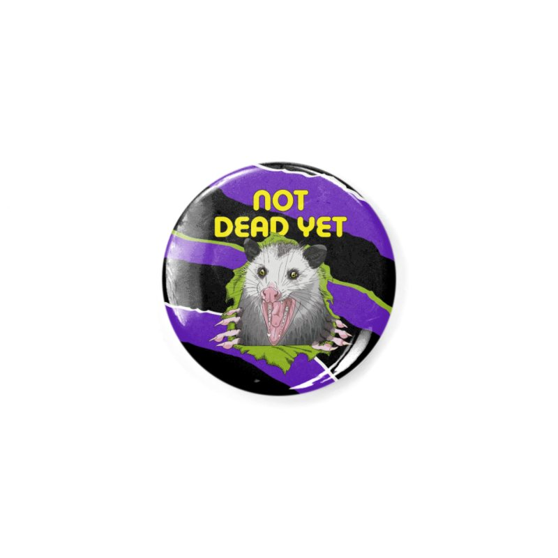 Zebra Ripper 'Possum Accessories Button by Not Dead Yet Merch