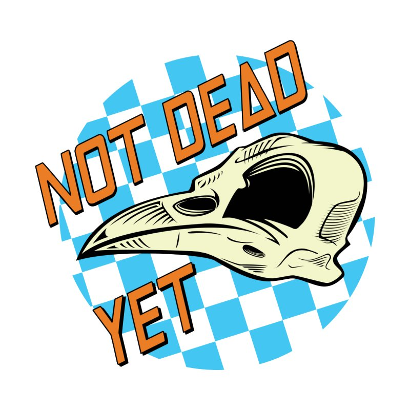 Not Dead Yet Crow Skull Logo Kids T-Shirt by Not Dead Yet Merch
