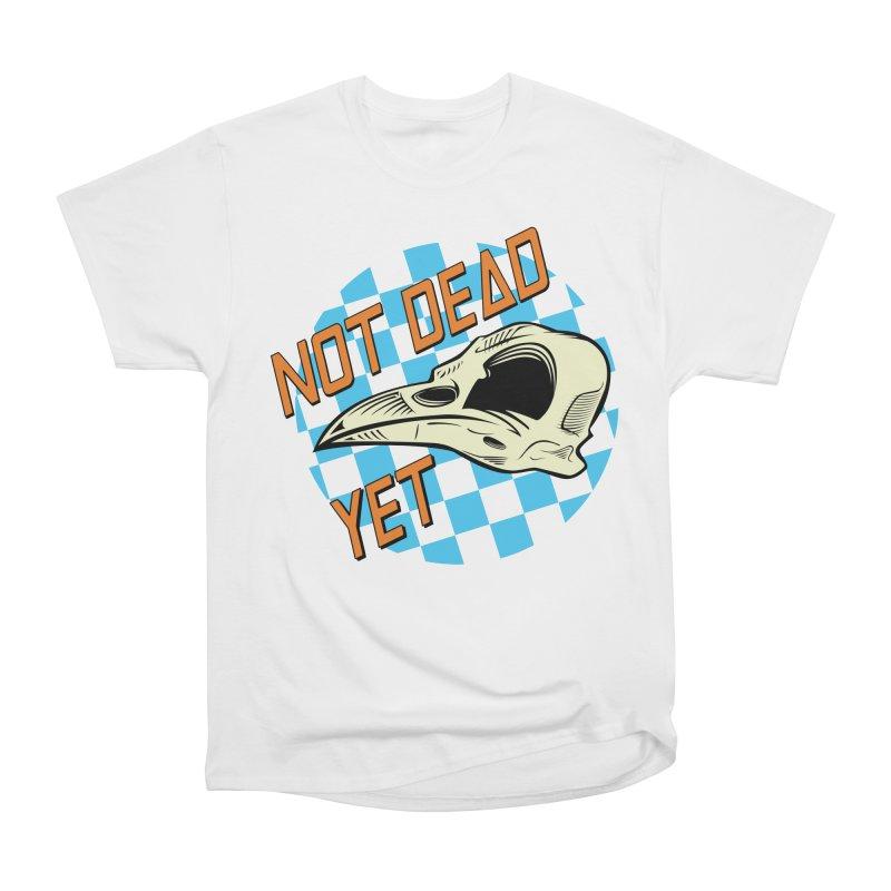 Not Dead Yet Crow Skull Logo Women's Heavyweight Unisex T-Shirt by Not Dead Yet Merch