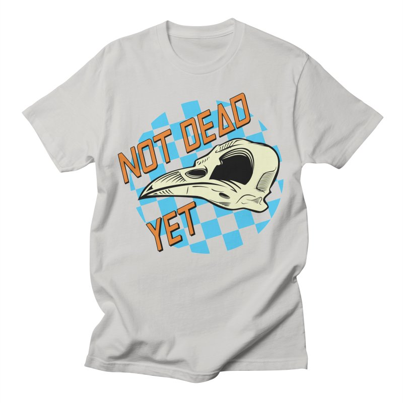 Not Dead Yet Crow Skull Logo Men's T-Shirt by Not Dead Yet Merch