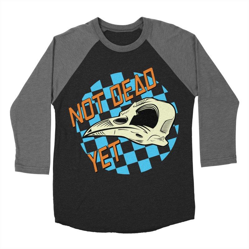 Not Dead Yet Crow Skull Logo Women's Baseball Triblend Longsleeve T-Shirt by Not Dead Yet Merch