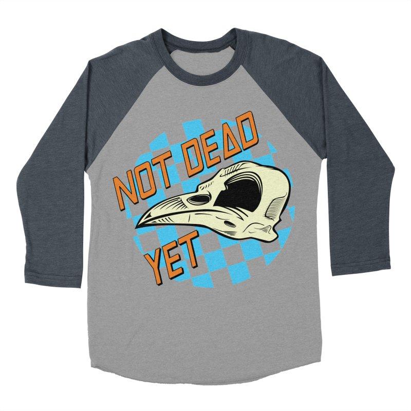 Not Dead Yet Crow Skull Logo Men's Baseball Triblend Longsleeve T-Shirt by Not Dead Yet Merch