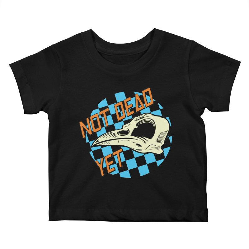 Not Dead Yet Crow Skull Logo Kids Baby T-Shirt by Not Dead Yet Merch