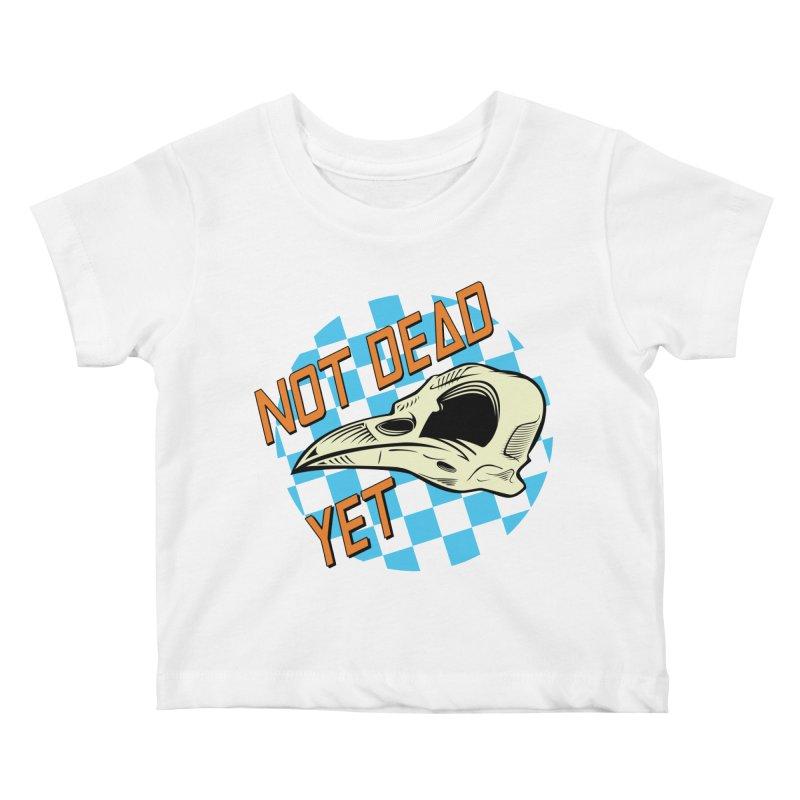 Not Dead Yet Crow Skull Logo Kids Baby T-Shirt by Not Dead Yet Merch