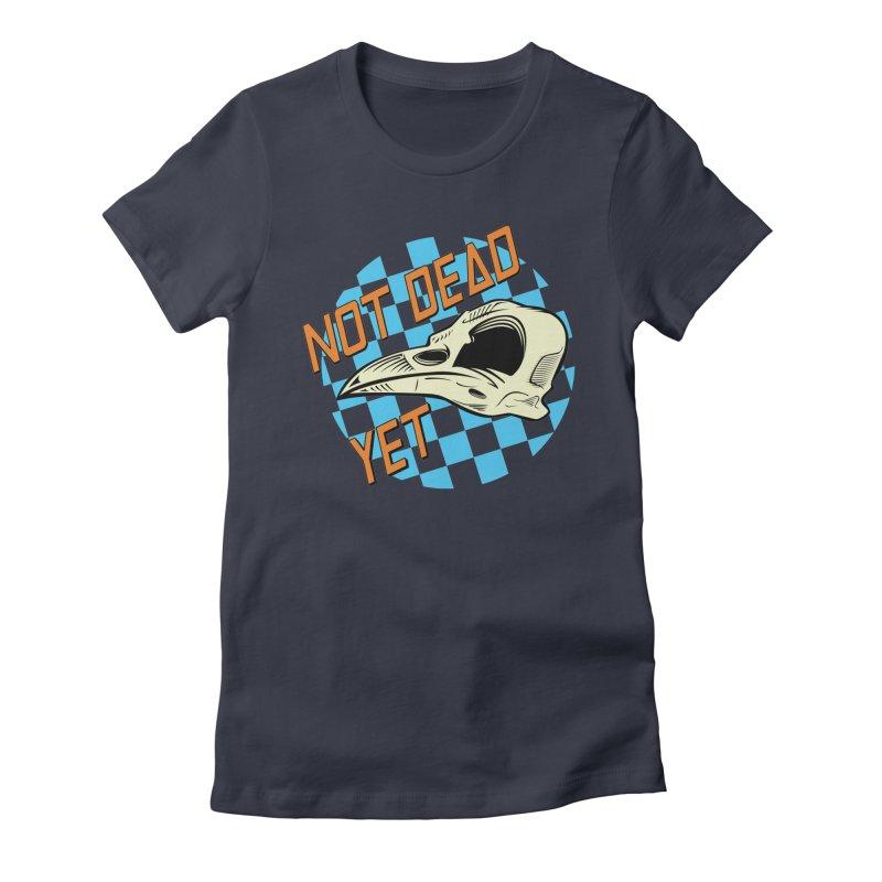 Not Dead Yet Crow Skull Logo Women's T-Shirt by Not Dead Yet Merch