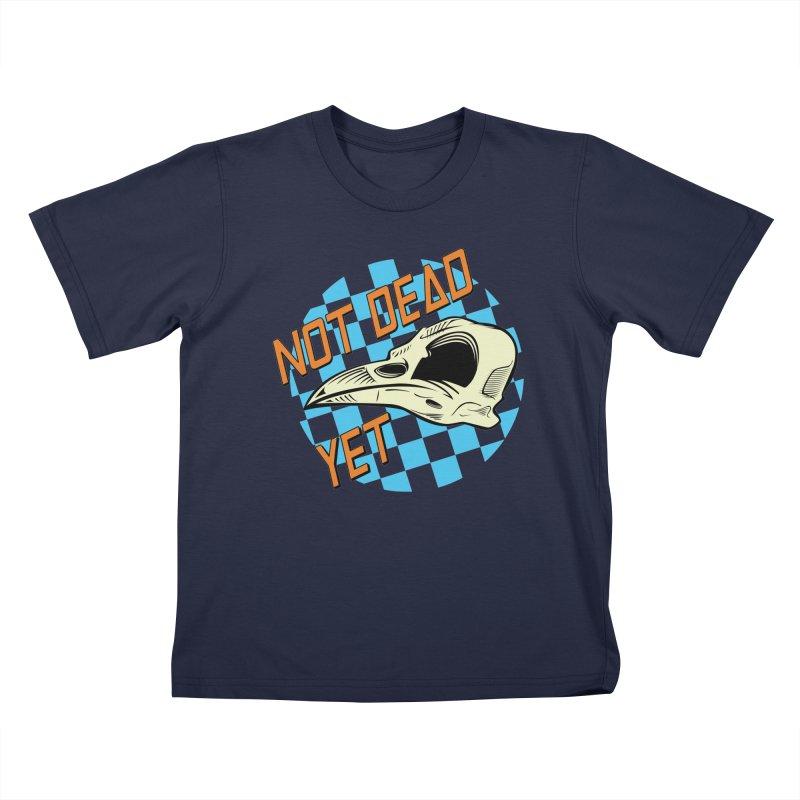 Not Dead Yet Crow Skull Logo Kids T-Shirt by Not Dead Yet Merch
