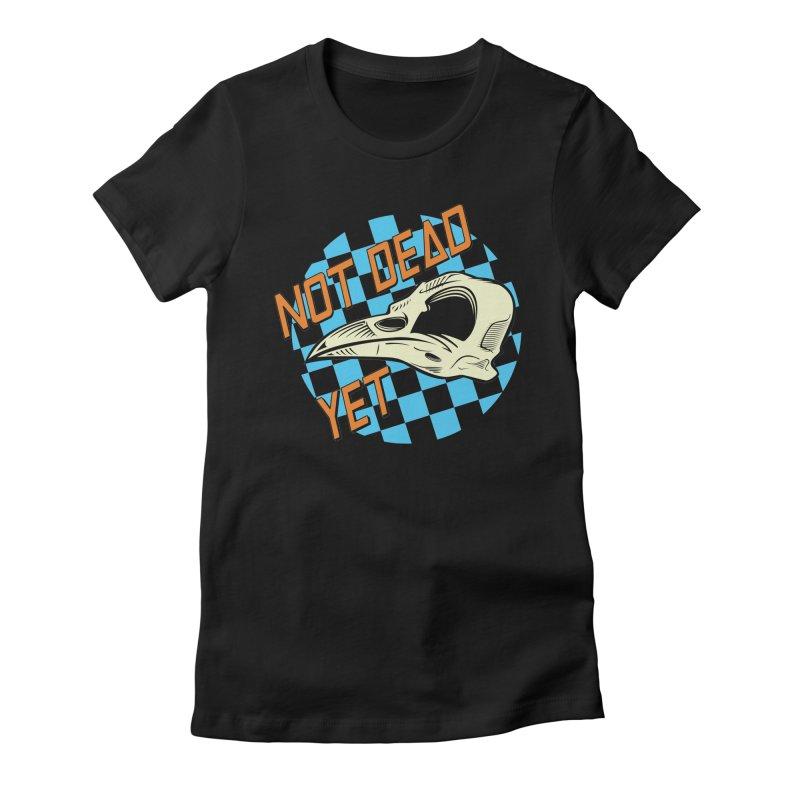 Not Dead Yet Crow Skull Logo Women's Fitted T-Shirt by Not Dead Yet Merch