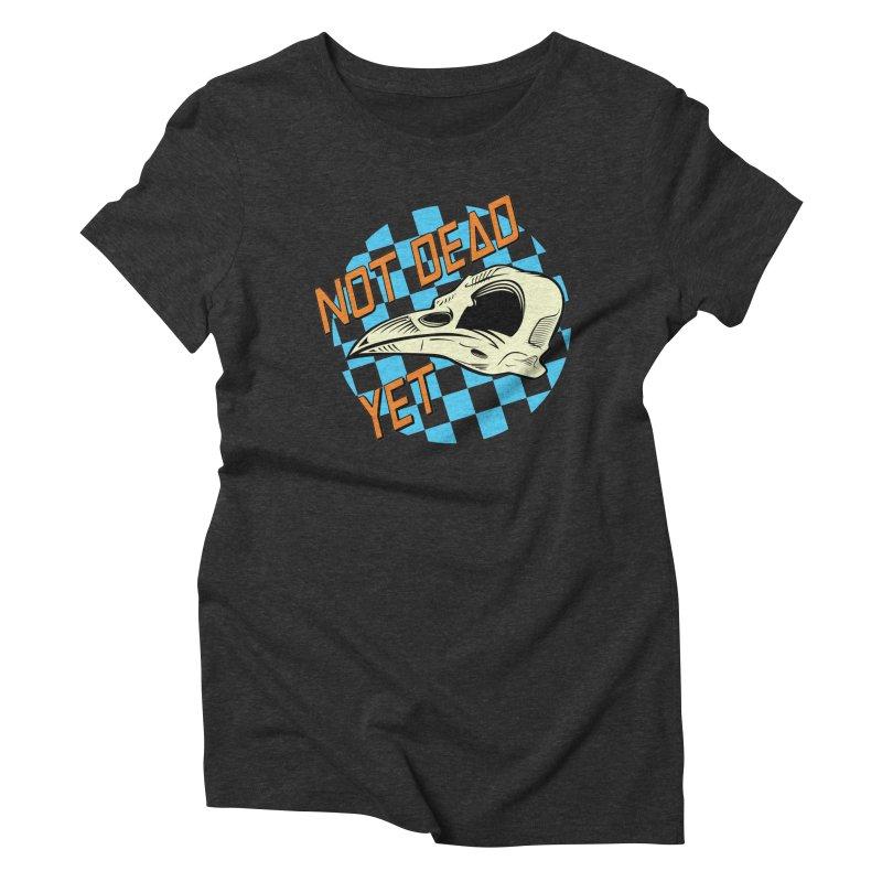 Not Dead Yet Crow Skull Logo Women's Triblend T-Shirt by Not Dead Yet Merch