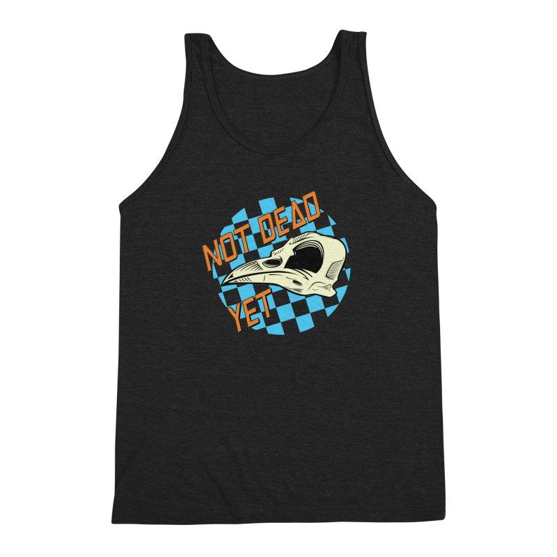Not Dead Yet Crow Skull Logo Men's Triblend Tank by Not Dead Yet Merch