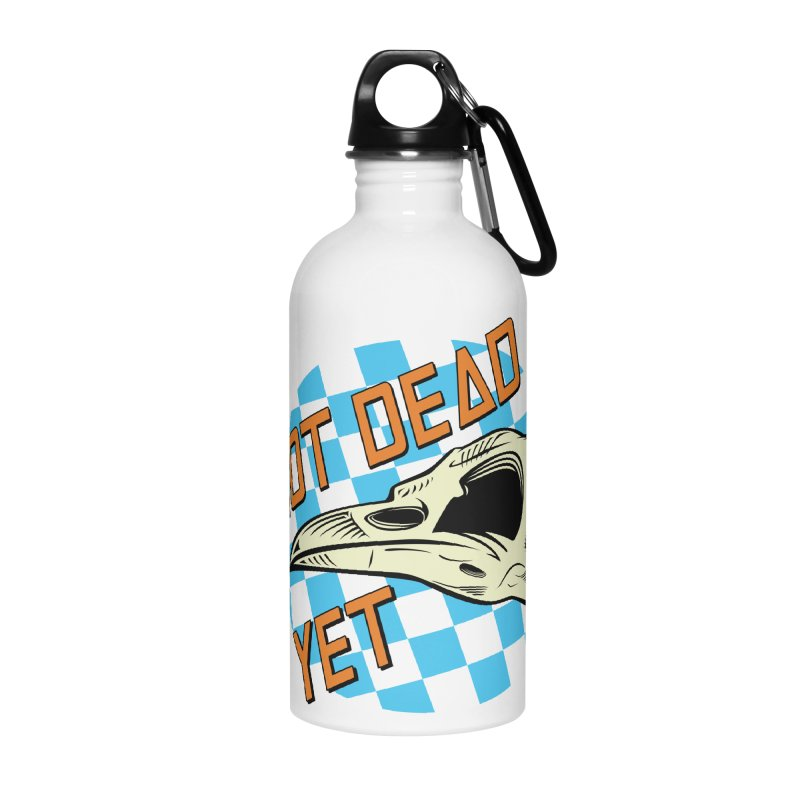 Not Dead Yet Crow Skull Logo Accessories Water Bottle by Not Dead Yet Merch