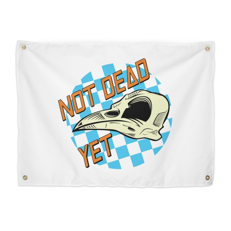 Not Dead Yet Crow Skull Logo Home Tapestry by Not Dead Yet Merch