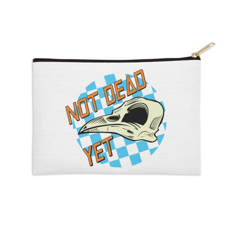 Not Dead Yet Crow Skull Logo Accessories Zip Pouch by Not Dead Yet Merch