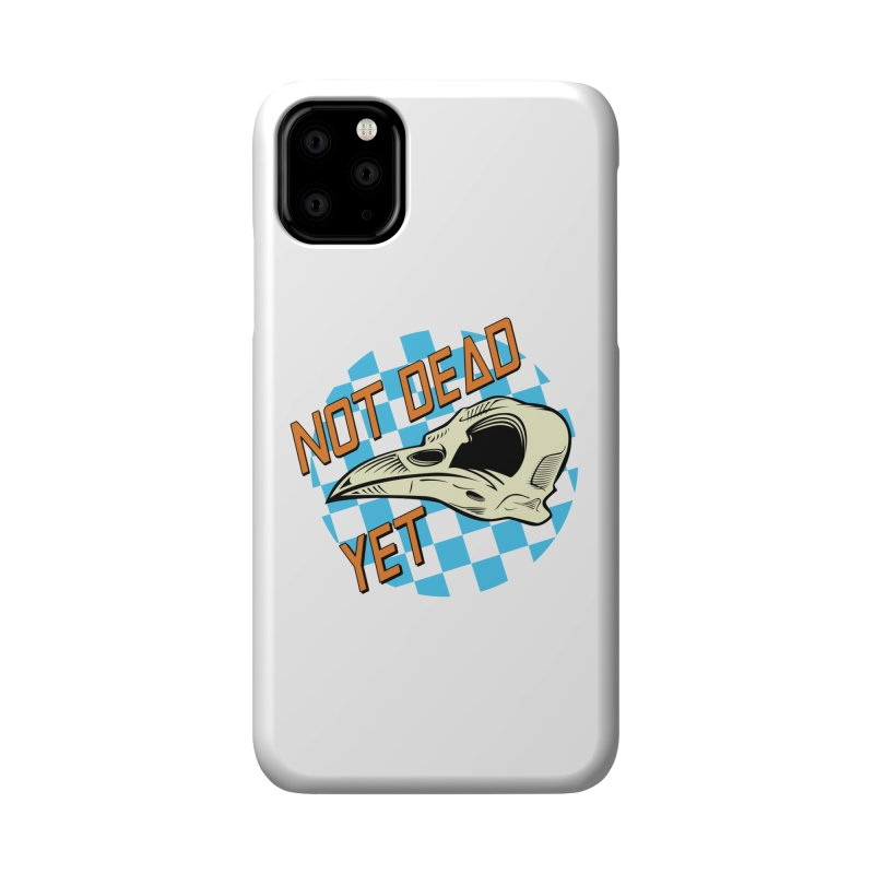 Not Dead Yet Crow Skull Logo Accessories Phone Case by Not Dead Yet Merch