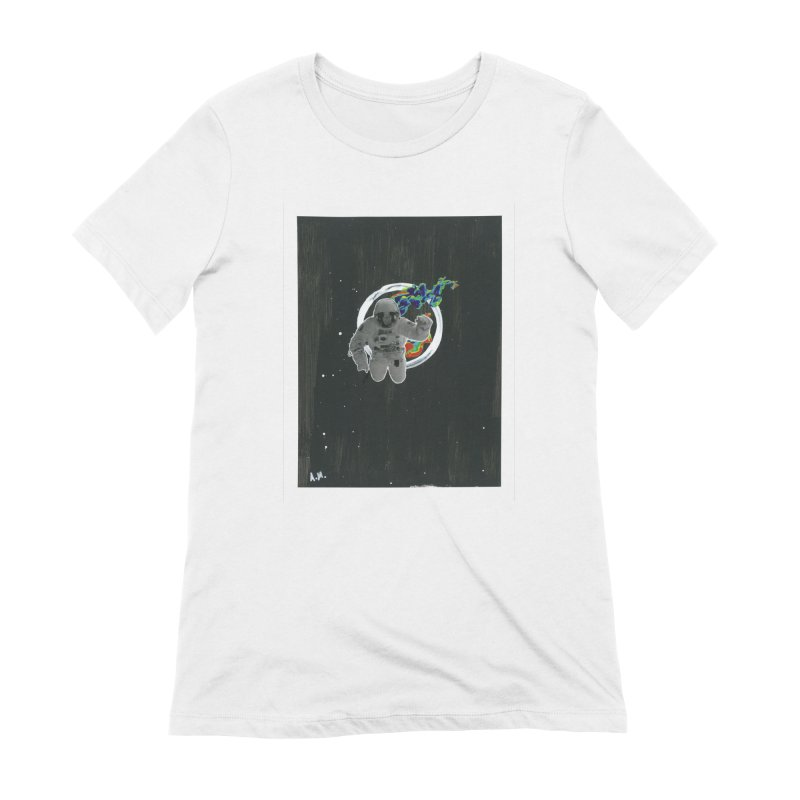 Re-entering Orbit Women's Extra Soft T-Shirt by notes and pictures's Artist Shop