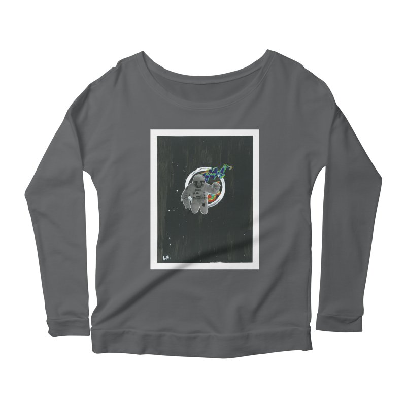 Re-entering Orbit Women's Scoop Neck Longsleeve T-Shirt by notes and pictures's Artist Shop