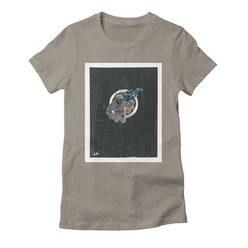 Re-entering Orbit Women's Fitted T-Shirt by notes and pictures's Artist Shop