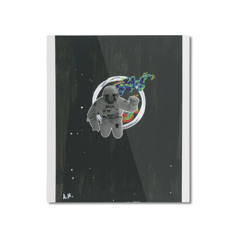 Re-entering Orbit Home Mounted Aluminum Print by notes and pictures's Artist Shop