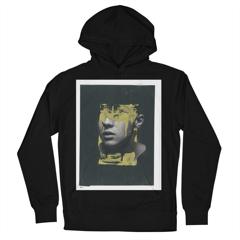 Gold Men's French Terry Pullover Hoody by notes and pictures's Artist Shop