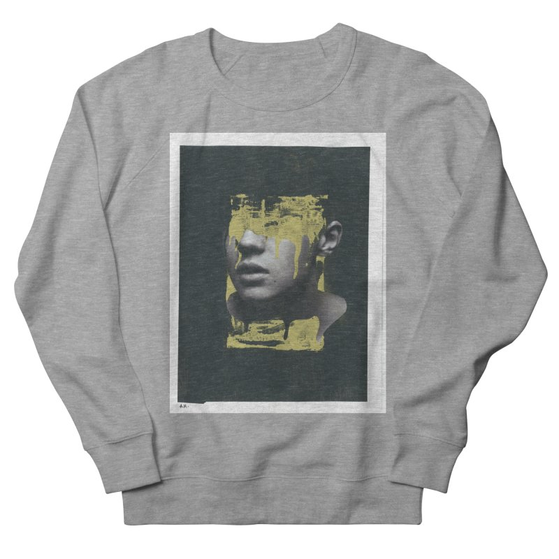 Gold Women's French Terry Sweatshirt by notes and pictures's Artist Shop
