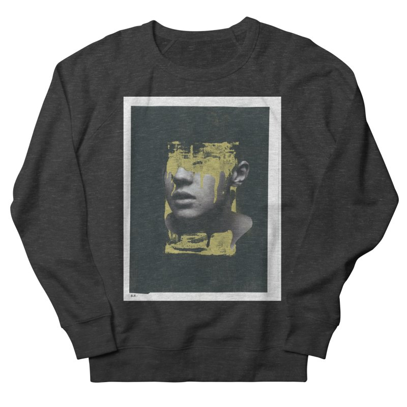 Gold Men's French Terry Sweatshirt by notes and pictures's Artist Shop