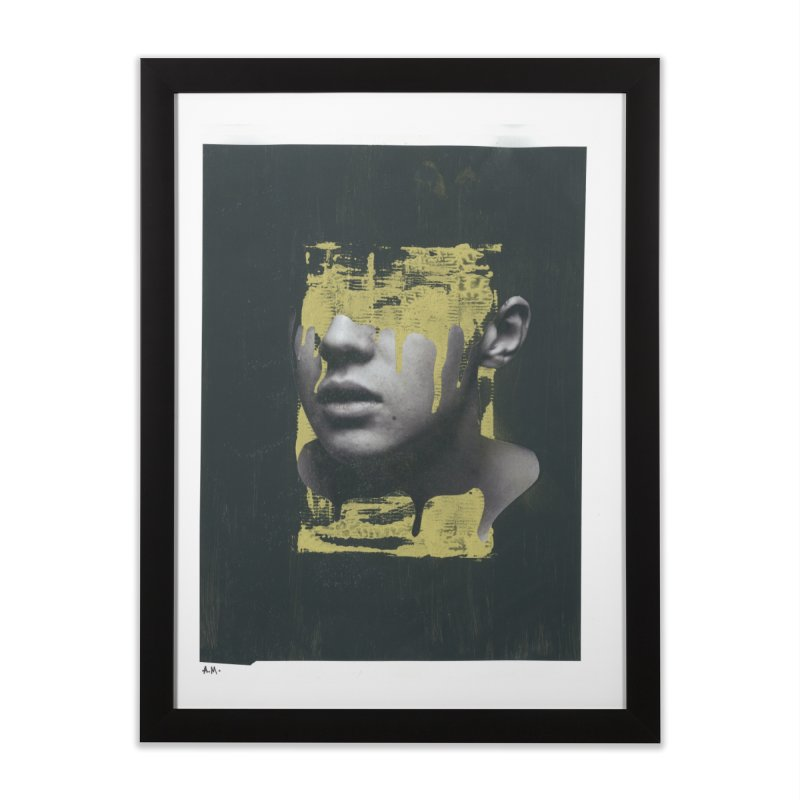 Gold Home Framed Fine Art Print by notes and pictures's Artist Shop