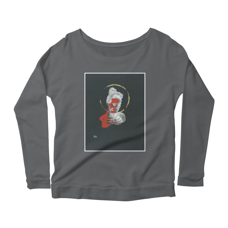 Skeleton Shadows Women's Scoop Neck Longsleeve T-Shirt by notes and pictures's Artist Shop
