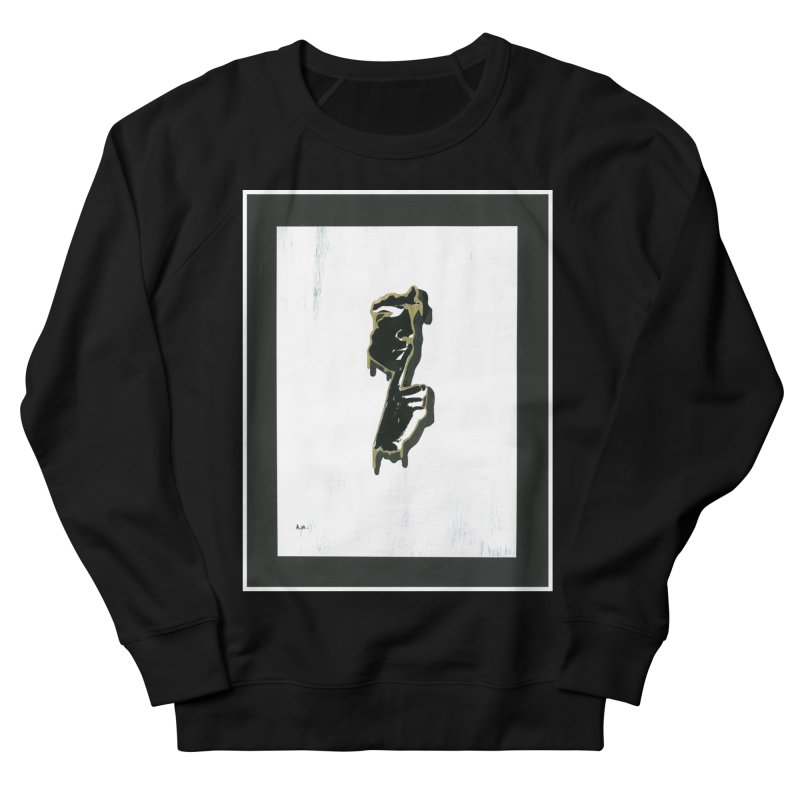 Gold Whispers Men's French Terry Sweatshirt by notes and pictures's Artist Shop