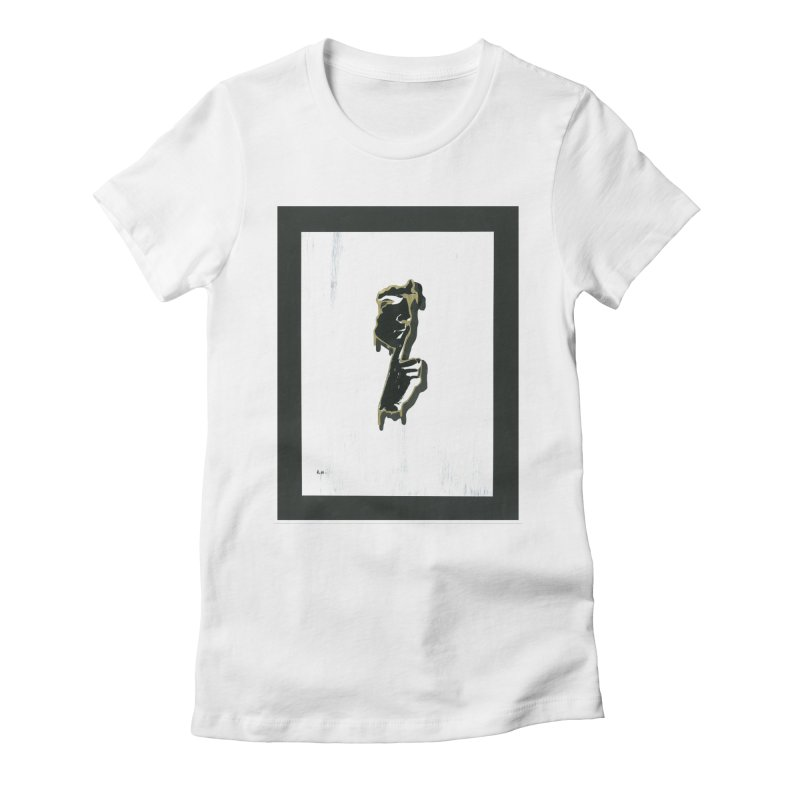 Gold Whispers Women's Fitted T-Shirt by notes and pictures's Artist Shop