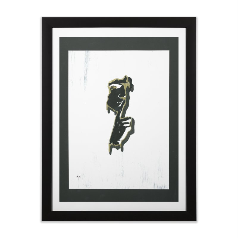 Gold Whispers Home Framed Fine Art Print by notes and pictures's Artist Shop