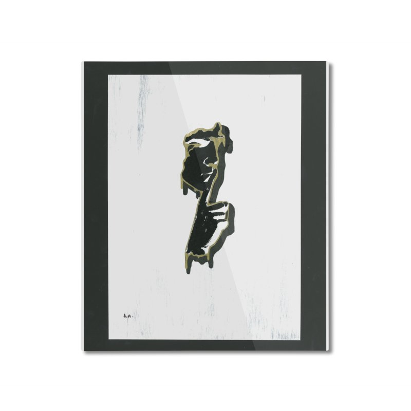 Gold Whispers Home Mounted Aluminum Print by notes and pictures's Artist Shop