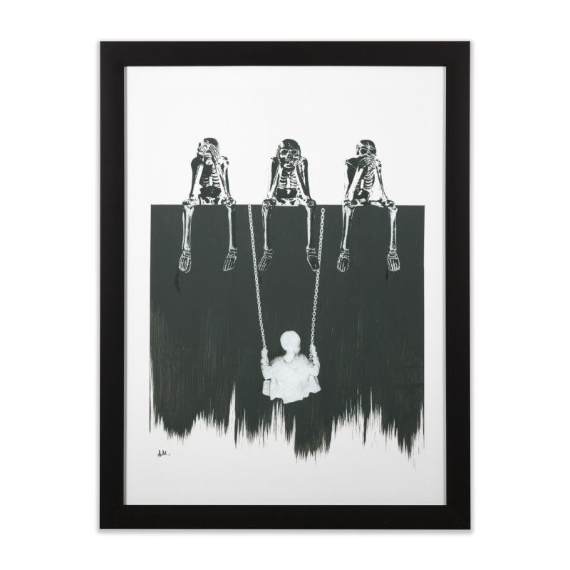 Devil's Playground Home Framed Fine Art Print by notes and pictures's Artist Shop