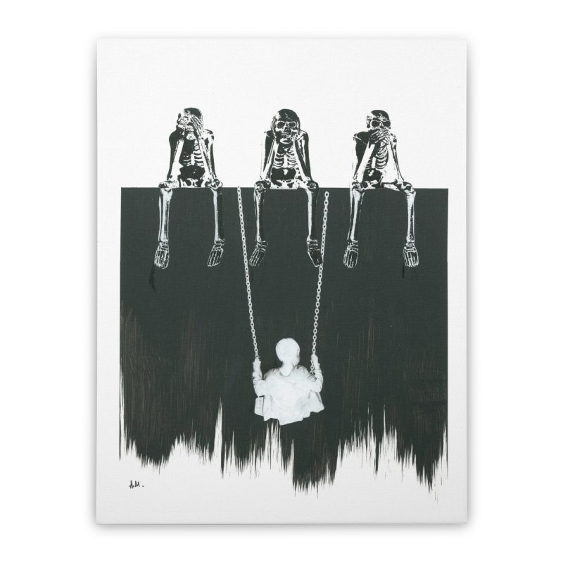 Devil's Playground Home Stretched Canvas by notes and pictures's Artist Shop