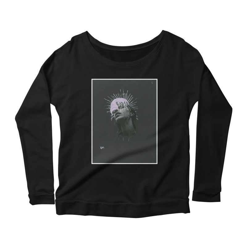 Angel Grief Women's Scoop Neck Longsleeve T-Shirt by notes and pictures's Artist Shop