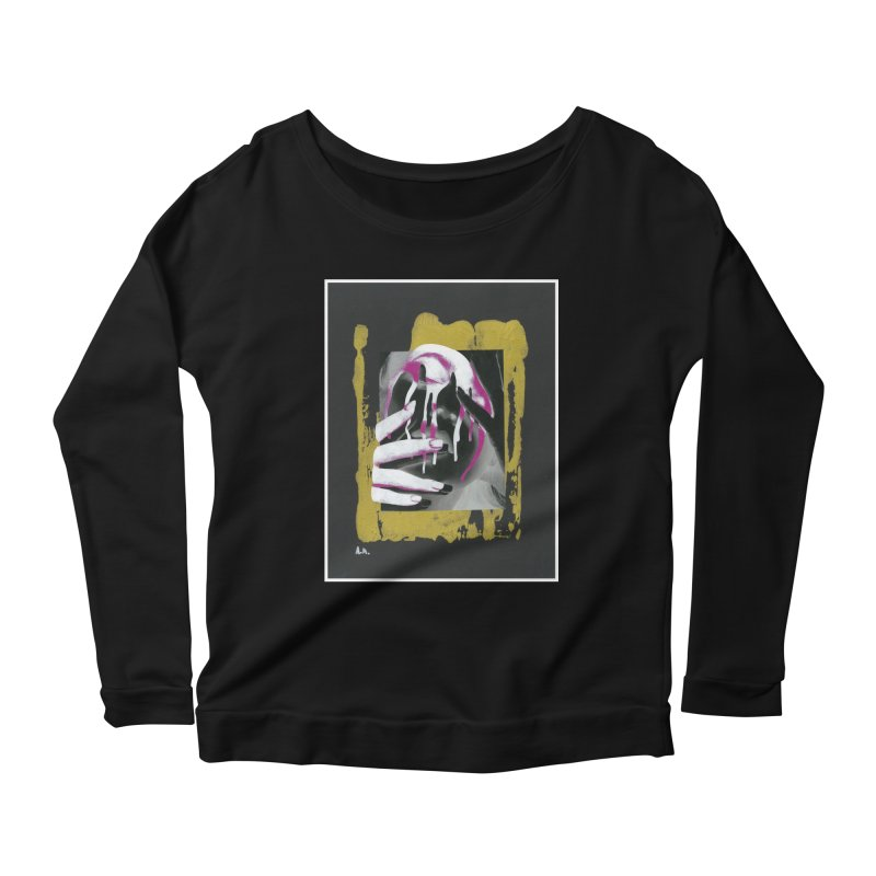Anguish Women's Scoop Neck Longsleeve T-Shirt by notes and pictures's Artist Shop
