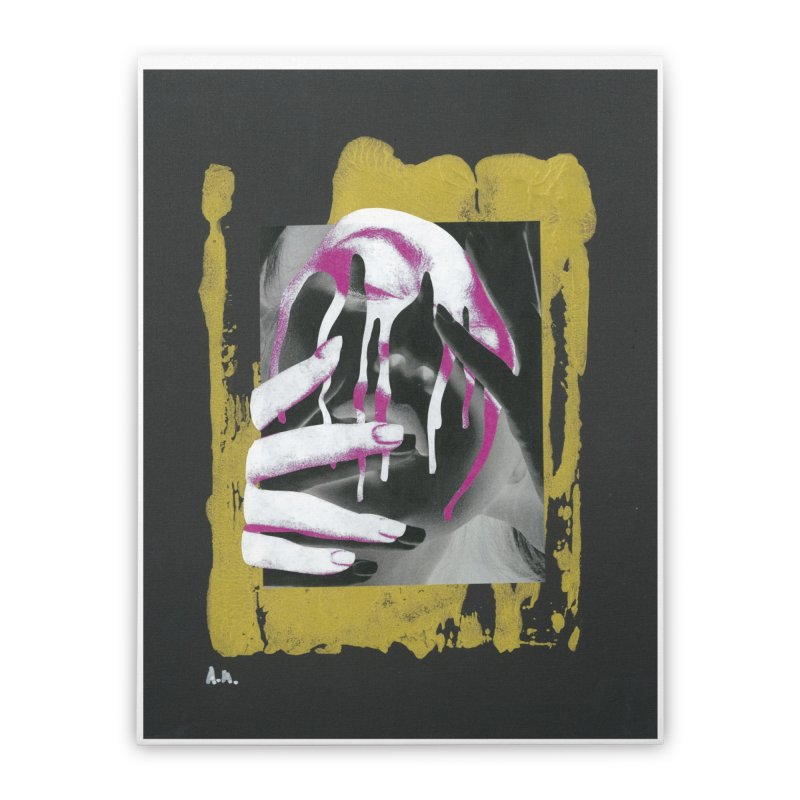 Anguish Home Stretched Canvas by notes and pictures's Artist Shop
