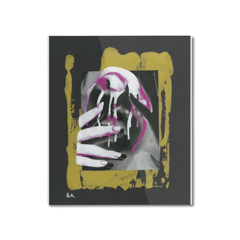 Anguish Home Mounted Aluminum Print by notes and pictures's Artist Shop