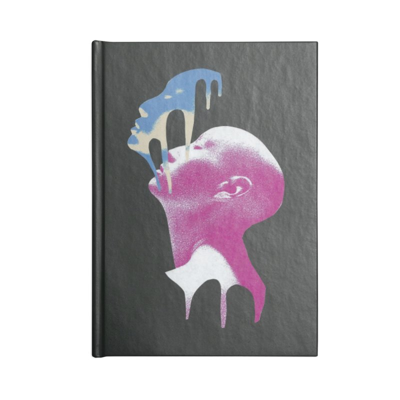 Blue Mask Accessories Lined Journal Notebook by notes and pictures's Artist Shop