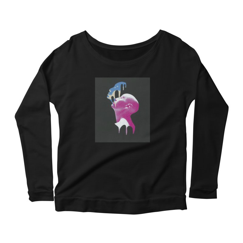 Blue Mask Women's Longsleeve T-Shirt by notes and pictures's Artist Shop