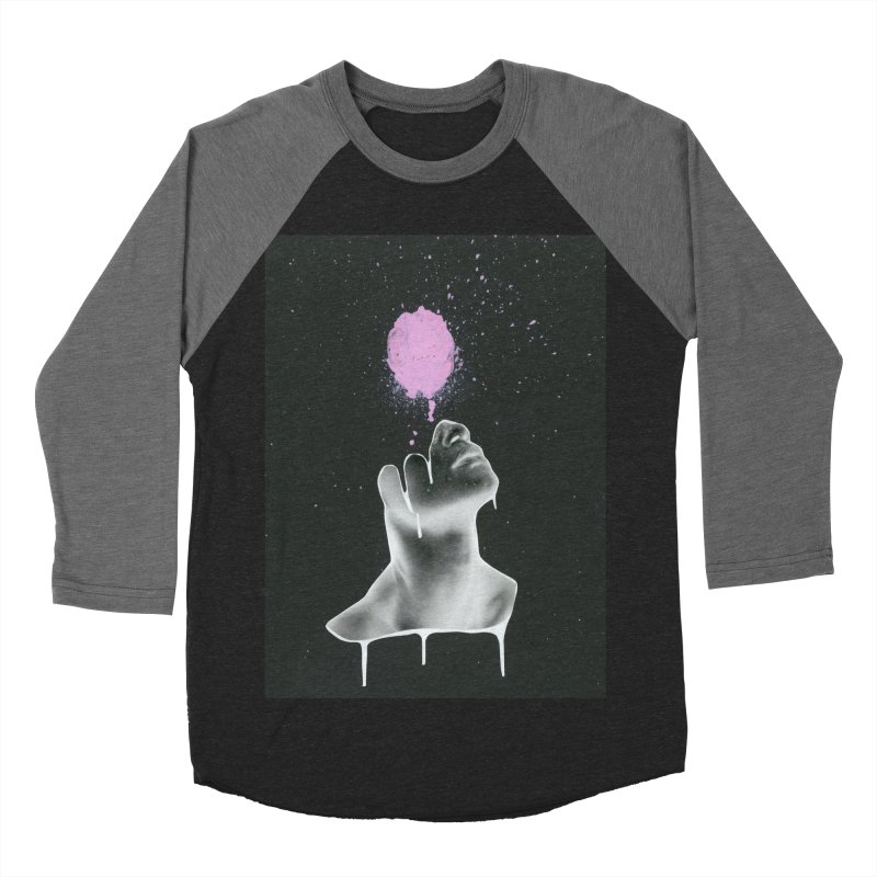 Splatter Brained Men's Baseball Triblend Longsleeve T-Shirt by notes and pictures's Artist Shop