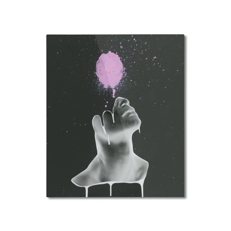 Splatter Brained Home Mounted Aluminum Print by notes and pictures's Artist Shop